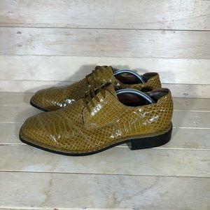 Hugo Vitelli crocodile dress shoes , men's 10.5